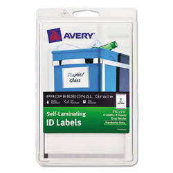 Avery professional grade self laminating id labels 3 3 4 for Avery 4x6 labels