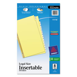Avery mini worksaver insertable tab dividers 8 tab set for 8 tab divider template word