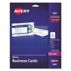 Avery color laser perforated white 2x3 1 2quot business cards for Avery laser business cards template