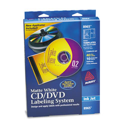 Avery cd dvd design kit 40 labels 10 inserts for ink for Avery dvd case template