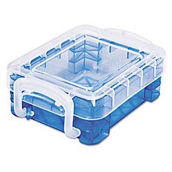 Advantus Super Stacker Bitty Box Blue 5 Pk Avt40316