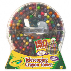 150 Count Telescoping Crayon Tower