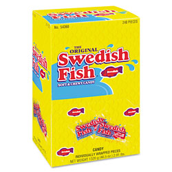 cadbury adams swedish fish red candy individually