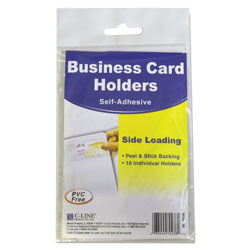 C Line Side Load Self Adhesive Business Card Holders