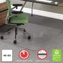 deflecto rollamat vinyl chair mat for medium high pile plush carpet