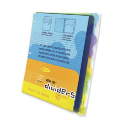 Acco wilson jones view tab index tabs assorted colors for Templates wilson jones 8 tabs