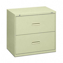 Hon 400 Series 2 Drawer Metal Lateral File Cabinet 30 Wide Beige