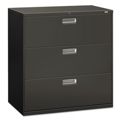 Hon 600 Series 3 Drawer Metal Lateral File Cabinet 42 Wide Dark