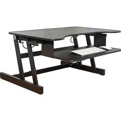 Lorell Desk Riser Adjustable 32 Quot Wx21 1 2 Quot Dx16 Quot H Bk
