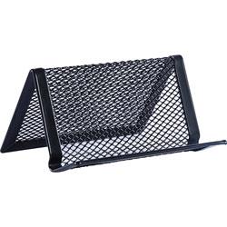 lorell steel mesh business card holder black llr84151