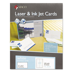 Maco tag label business cards laser inkjet 3 1 2 x2 for Maco laser and inkjet labels template
