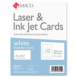 Maco tag label business cards laser inkjet 3 1 2 x2 for Maco laser and inkjet labels template