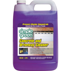 Simple green concrete driveway cleaner 1gal clear for Concrete driveway cleaner