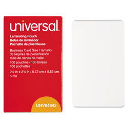 Universal Clear Laminating Pouches 5 Mil 2 1 4 X 3 3 4